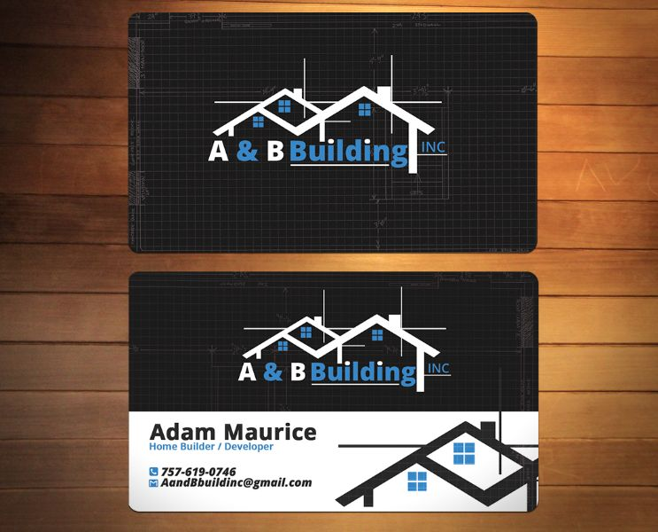 tarjetas de presentacion de construccion por ambos lados
