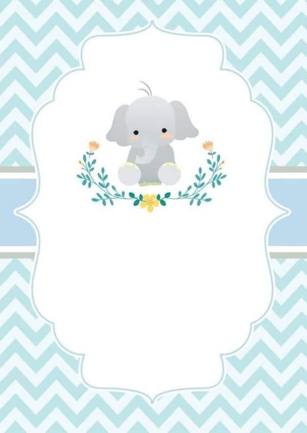 tarjetas virtuales de baby shower con animalitos