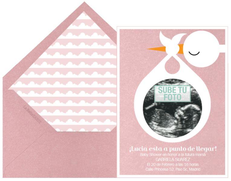tarjetas virtuales de baby shower para agregar fotos