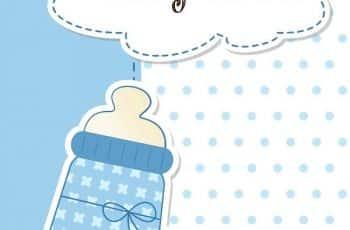 tarjetas virtuales de baby shower para imprimir