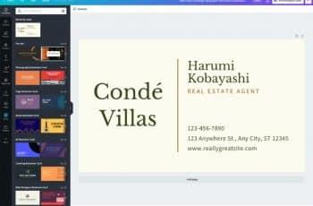 creacion de tarjetas de presentacion editor