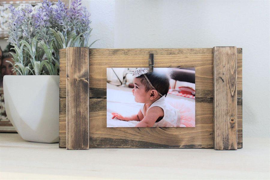 marcos para fotos de madera reciclada