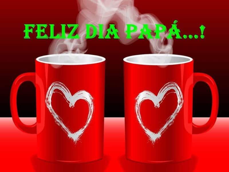 saludos para el dia del padre con tazas