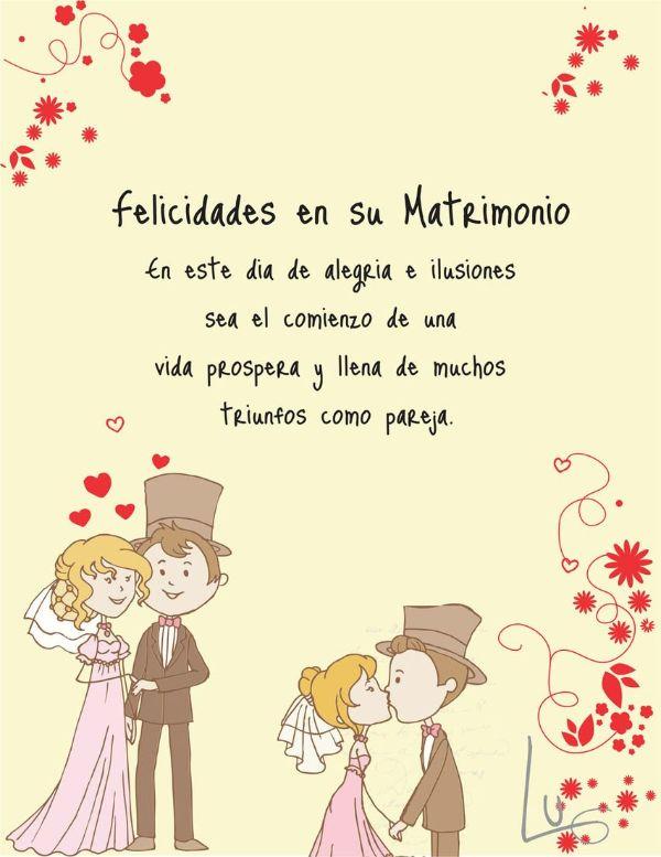 tarjetas de felicitaciones de boda con buenos deseos