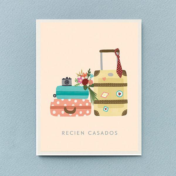 tarjetas de felicitaciones de boda ilustraciones originales