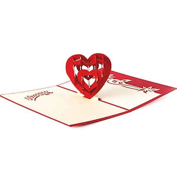 tarjetas de felicitaciones de boda impresa en 3d