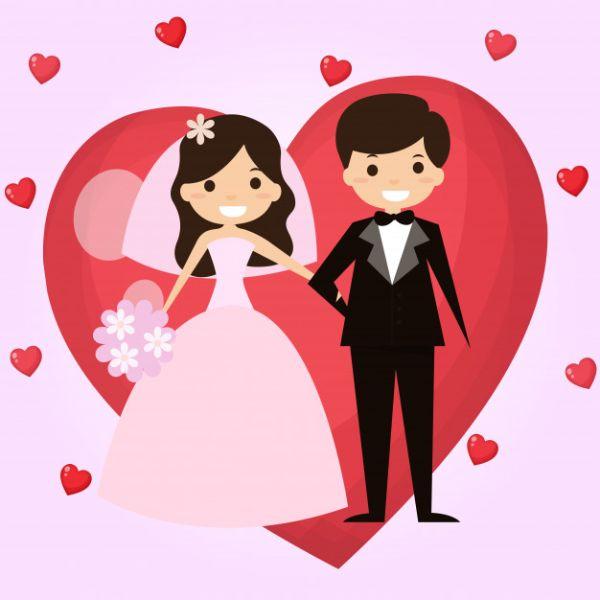 tarjetas de felicitaciones de boda personajes para editar