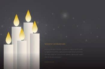 tarjetas de pesame para editar con velas