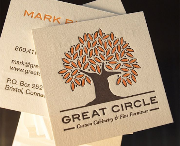 tarjetas de presentacion para chef cuadradas