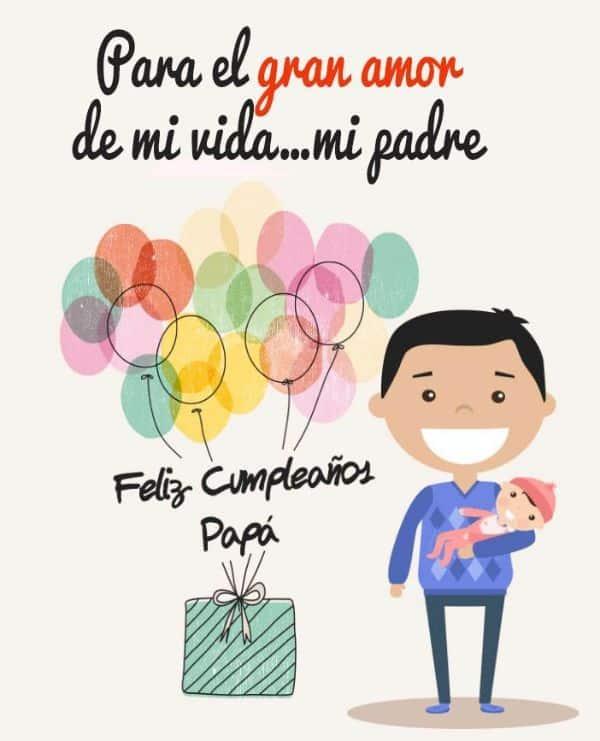 tarjetas de te quiero papa con dibujos