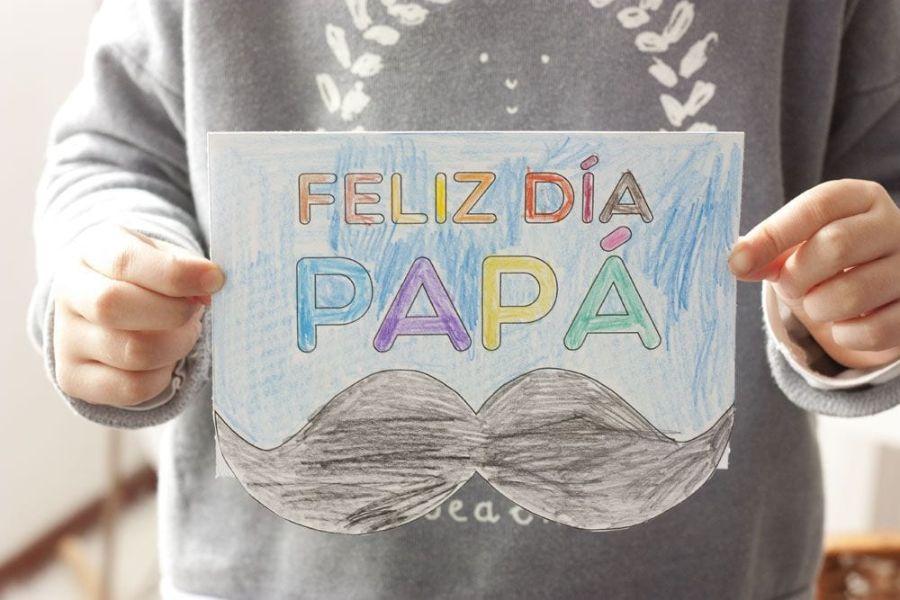 tarjetas para dia del papa dibujo
