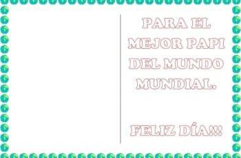 tarjetas para imprimir dia del padre patron