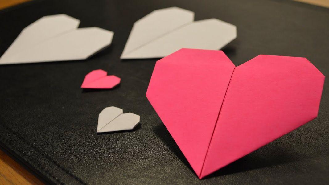 tarjetitas de amor hechas a mano en forma de corazon