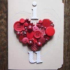tarjetitas de amor hechas a mano reciclando objetos