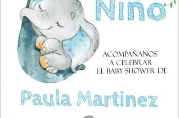 invitaciones de niño para baby shower con ternura
