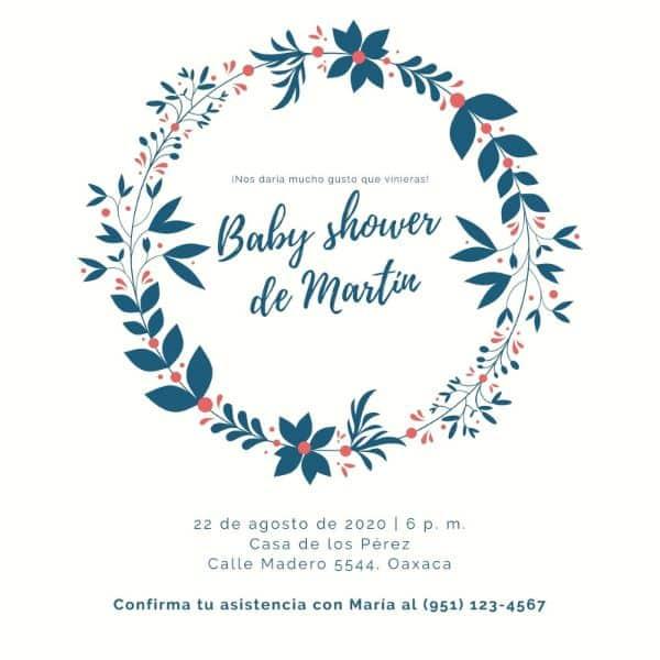 invitaciones de niño para baby shower ideas simples