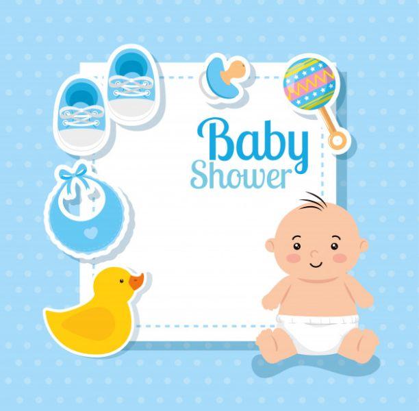 invitaciones de niño para baby shower para editar