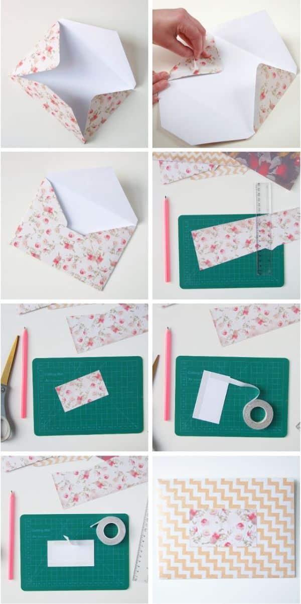 sobres de papel para regalo tutorial