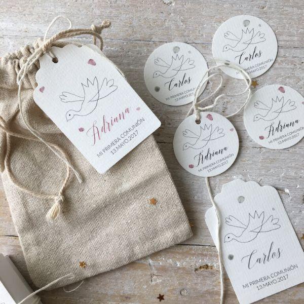 sobres para tarjetas de bautizo tipo rustico