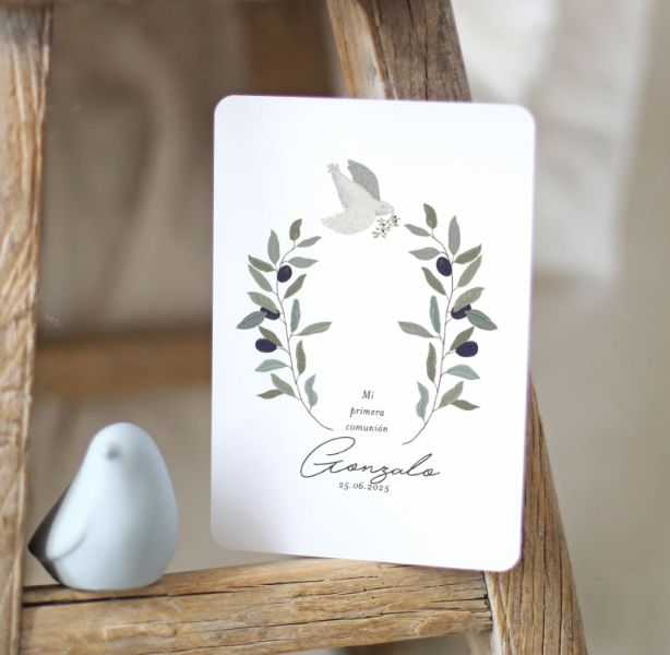 tarjetas de comunion niña ideas impresas