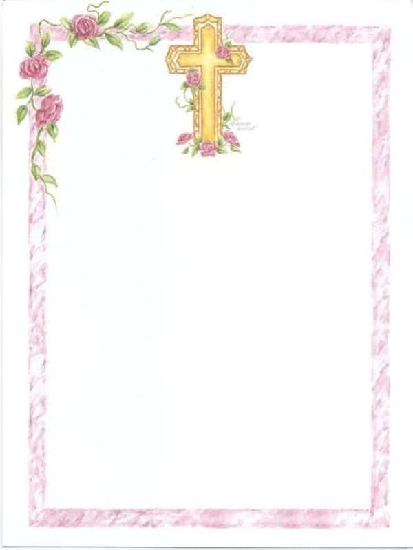 tarjetas de primera comunion niña marcos para editar
