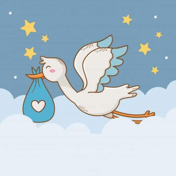 tarjetas para bebes recien nacidos dibujos divertidos