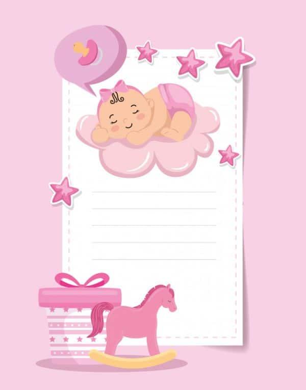 tarjetas para recien nacidos baby shower