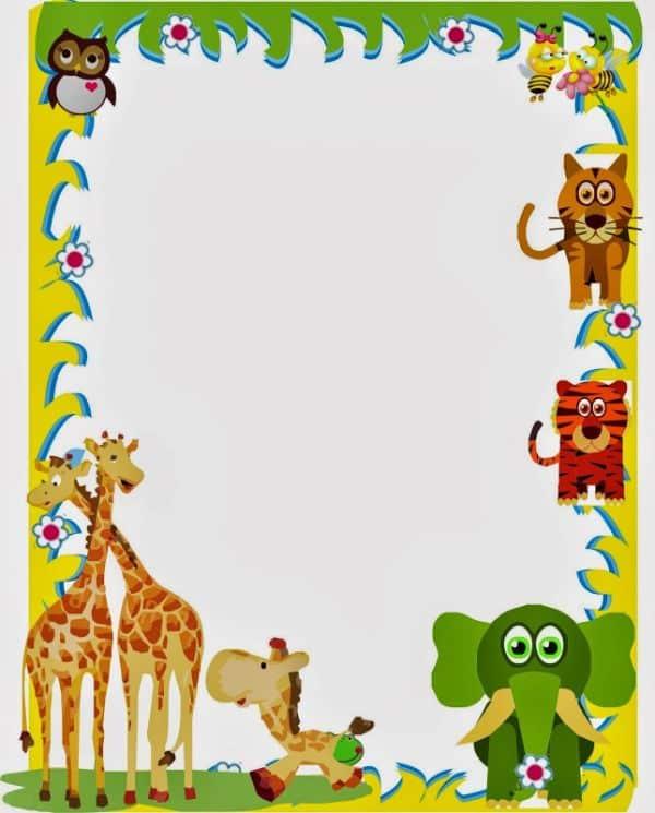 tarjetas para recien nacidos marcos de animales