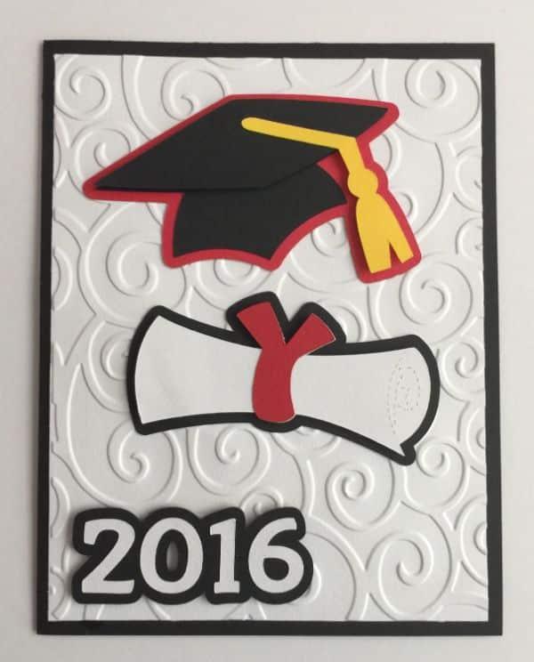 invitacion de graduacion universitaria papel el relieve
