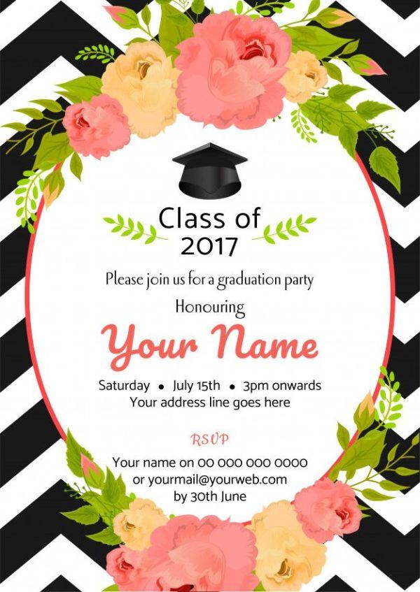 invitacion de graduacion universitaria para editar
