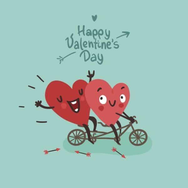 tarjetas de dia de san valentin digitales con dibujos