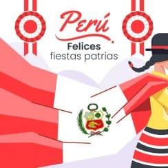 felices fiestas patrias frases ilustraciones