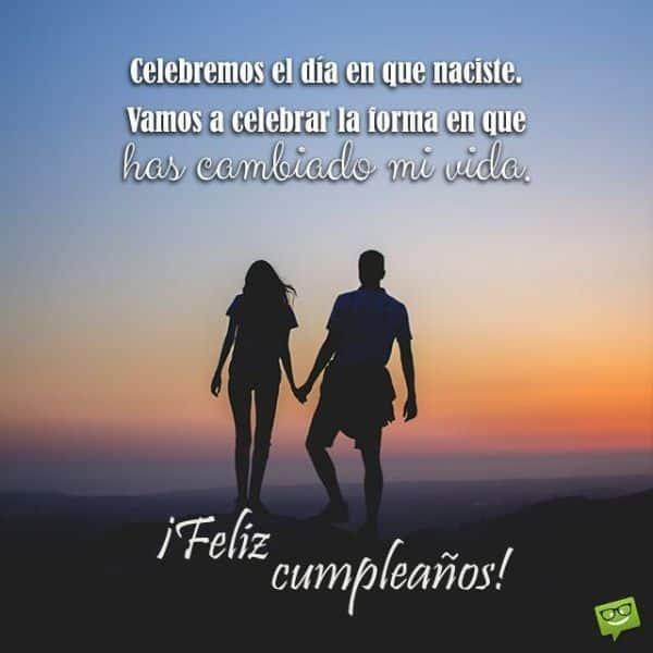 felicitacion bonita de cumpleaños para parejas