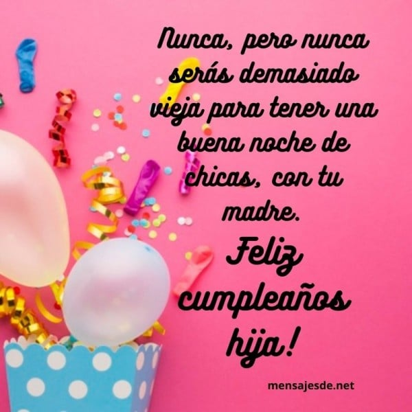 felicitacion bonita de cumpleaños para una hija