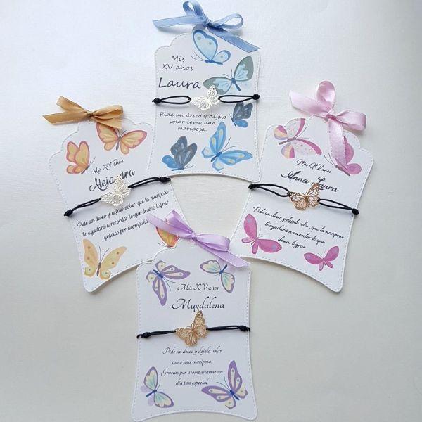 tarjetas para recuerdos de boda ideas con mariposas
