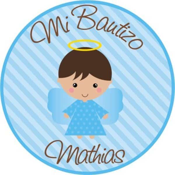 tarjetitas de recuerdo de bautizo stickers