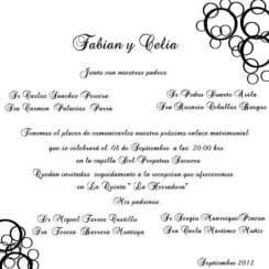 invitaciones de boda cristiana con pocos ornamentos