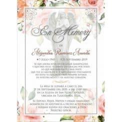 invitaciones para aniversario luctuoso para misa