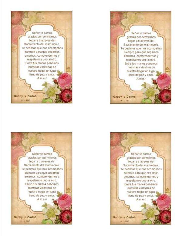 oraciones para invitaciones de boda plantillas para editar e imprimir