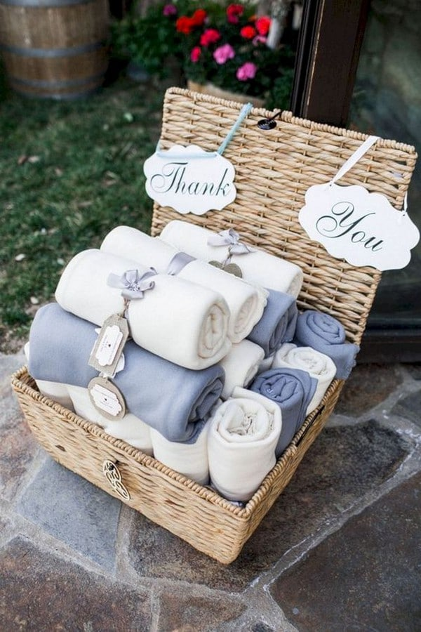 recuerdos de mesa para boda toallas
