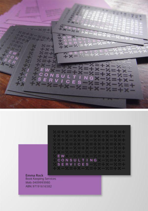 tarjeta de presentacion contador diseño con simbolos