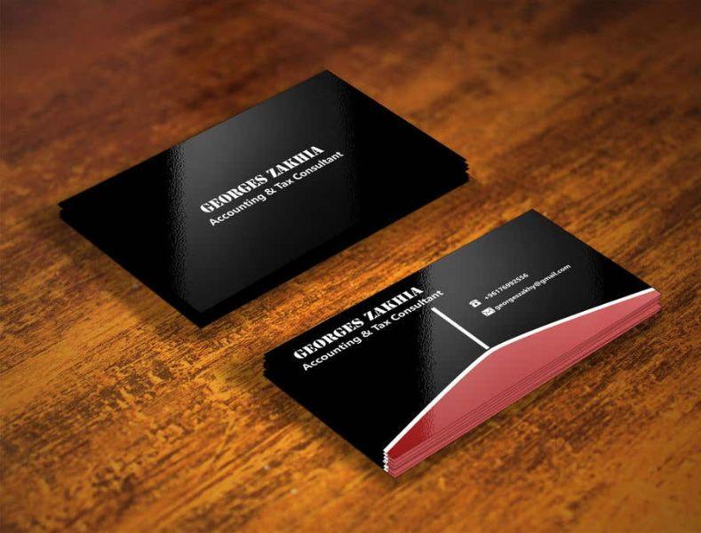 tarjeta de presentacion contador elegante