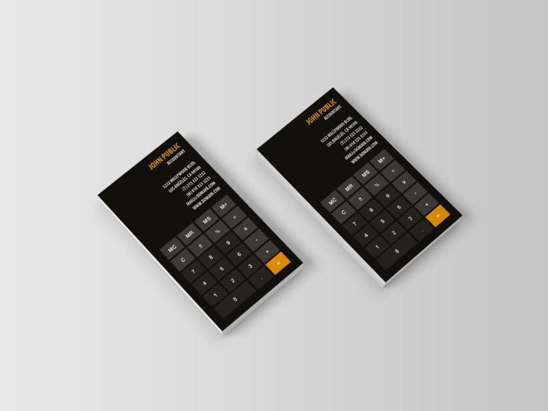 tarjeta de presentacion contador imagen calculadora