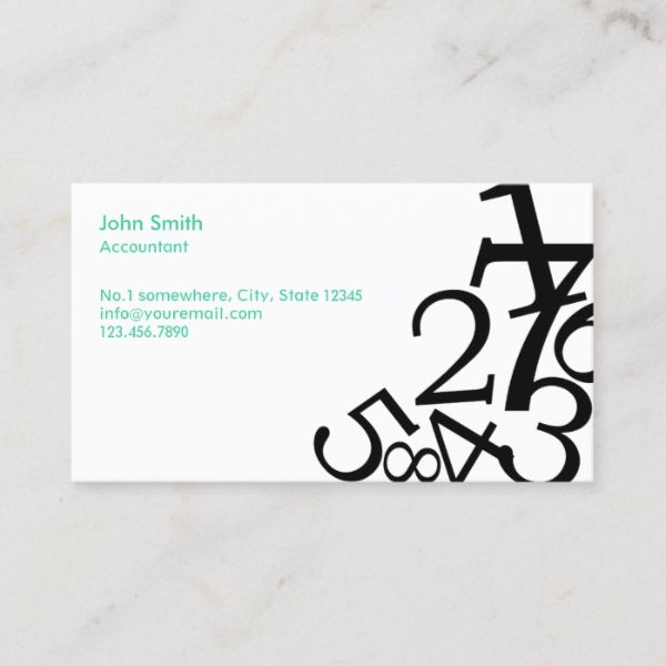 tarjeta de presentacion contador minimal