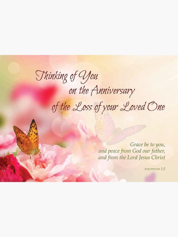 tarjetas de aniversario de muerte bonita ilustración