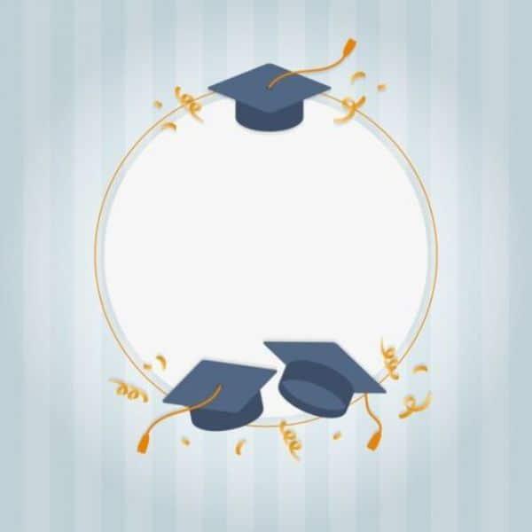 tarjetas de graduación gratis con birretes