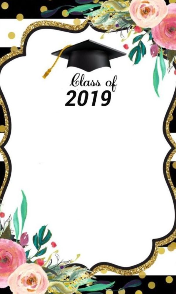 tarjetas de invitacion para graduacion marcos con flores