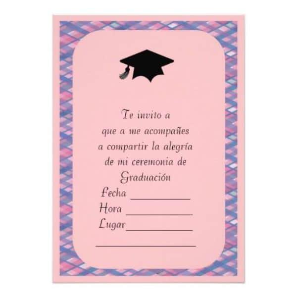 tarjetas de invitacion para graduacion sencilla para imprimir
