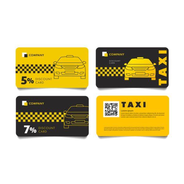 tarjetas de presentacion taxi con descuentos