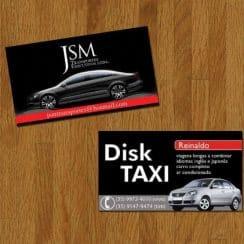 tarjetas de presentacion taxi ejecutivo